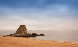 Island at the Santander beach Stock Images