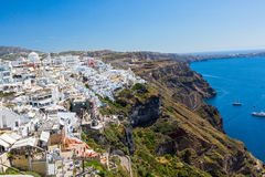 Island Santorini, Fira town Stock Image