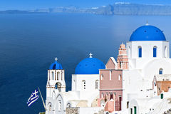 Island of Santorini in Greece Stock Photography