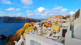 Island of Santorini , Greece. Picture of an Island of Santorini , Greece Stock Image