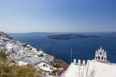 City Fira on the Island of Santorini Stock Images