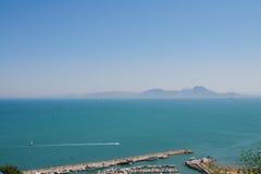 The island of Santorini. View of the coast. Royalty Free Stock Photos