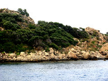 The island in the sea Royalty Free Stock Photography