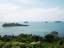 Island. At sea Stock Image