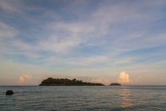 Island and sea beach at sunset Stock Photo