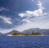 Island in sea Stock Photo