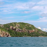 Island on sea with cloud Royalty Free Stock Photo