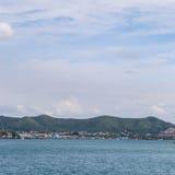 Island on sea with cloud Stock Photo