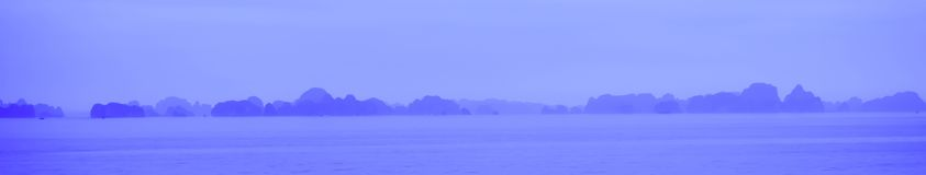 Island and Sea in Halong Bay, Vieitnam Royalty Free Stock Photo