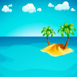 Island in the sea Royalty Free Stock Photos