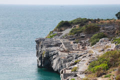 Island and sea landscapes of Ko Sichang in Chonburi province. Royalty Free Stock Photography