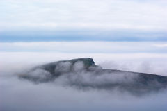 Island in sea mist Royalty Free Stock Photography
