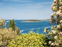 Island in the sea, Rovinj, Croatia Royalty Free Stock Photo