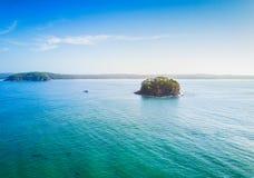 Island in the sea stock photo