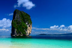 The island ser and blue sky of thailand Royalty Free Stock Image
