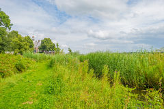 Island and settlement in reclaimed land from the sea Royalty Free Stock Image