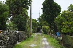 Island settlement road Royalty Free Stock Photos