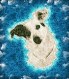 Island in the shape of a dog stock photography