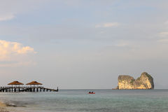 Island and shipyard. Ship and shipyard and seascape view sea and sky most beautieful in thailand Stock Photography