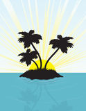 Island Silhouette Stock Photography