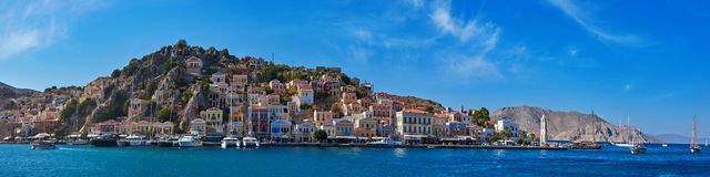 Island Simi, Greece royalty free stock images