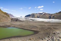 Island Skaftafell nationalpark Arkivfoton