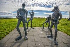 Island-Skulpturen mit menschlicher Form stockfoto