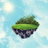 Island in sky Stock Image