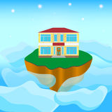 Island in the sky Royalty Free Stock Images