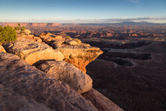 Island in the Sky. Last light hits rocks on Island in the Sky, Canyonlands National Park, Utah Stock Photo
