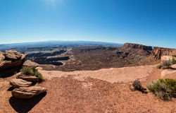 Island in the Sky. View of the Canyonlands of Utah from Island in the Sky District Stock Images