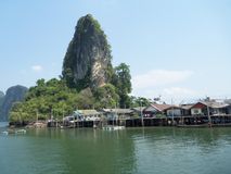 The Island. Small village on the island of southern Thailand. Simple life there. Living with nature Stock Photo