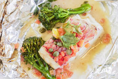 Island Snapper en Papillote Royalty Free Stock Images