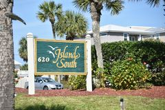 Island South Beach Vacation Homes, St. Augustine, Florida. Island South is the perfect destination for competitively-priced, family-friendly beach vacationing in stock photos