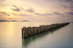 Island in southern of Thailand. Beautiful bamboo wall seascape in southern of Thailand Royalty Free Stock Images