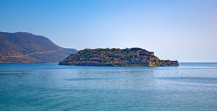 Island Spinalonga near Elounda in Crete Stock Photography