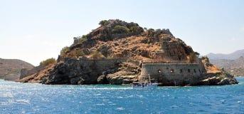 Island of Spinalonga. View of the island of Spinalonga, Greece, Crete Stock Image