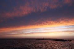 Island of St. Andrew Gallipoli - Italy. Island of St. Andrew Gallipoli with the sunset and big clouds Royalty Free Stock Photography