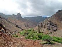 Island of St Helena. Mountains on the island of St Helena Stock Image