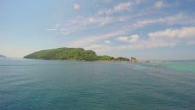 Island of St. Nicolas. Montenegro. stock footage