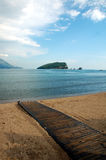 Island St. Nikola, Budva. Adriatic Sea royalty free stock photos