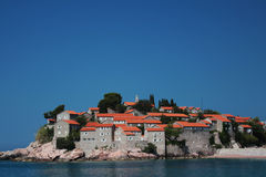 Island of St. Stefan (Budva, Montenegro) Royalty Free Stock Photo