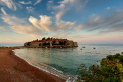 Island of St. Stefan. Montenegro Royalty Free Stock Photos