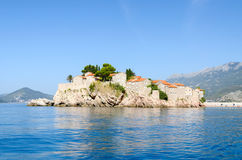 The island of St. Stefan (Sveti Stefan), Montenegro Royalty Free Stock Photography