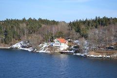 Island of Stockholm archipelago Royalty Free Stock Image