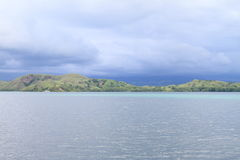 Island before storm Royalty Free Stock Photo