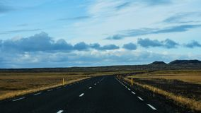 Island-Straßenlandschaft stockfotografie