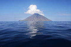 Island of Stromboli Royalty Free Stock Images