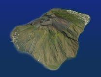 Island of Stromboli volcano, Aeolian Islands, Sicily Italy Stock Photography