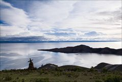 Island of the sun. View on lake Titicaca from sun island Royalty Free Stock Photography